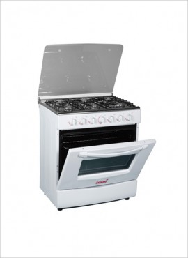 Totai 6 Burner Gas Stove (no grill) – White (T600A)