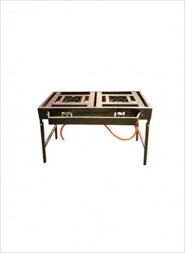 2-burner Gas Boiling Table – Folding Legs (08/2FC)