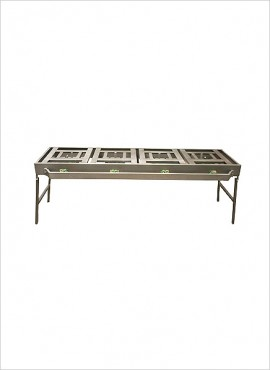 4-burner Gas Boiling Table – Folding Legs (08/4FC)