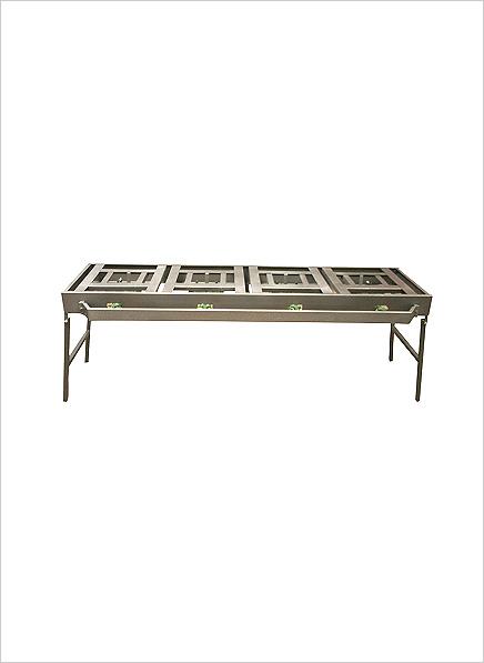 4-burner Gas Boiling Table – Folding Legs (08/4FC)