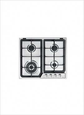 Elba 4-burner Gas Hob – Steel 02/EF65-445XN