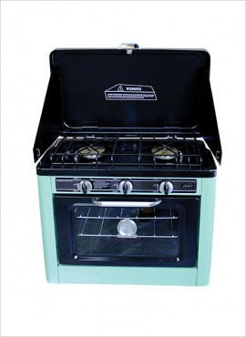 Kexin 2-Burner Gas Camping Stove with Gas Oven (no grill)