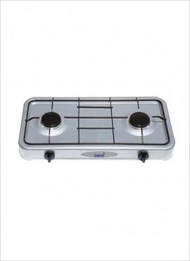 Totai 2-burner Gas Hotplate –  Silver Enamel 26/002A
